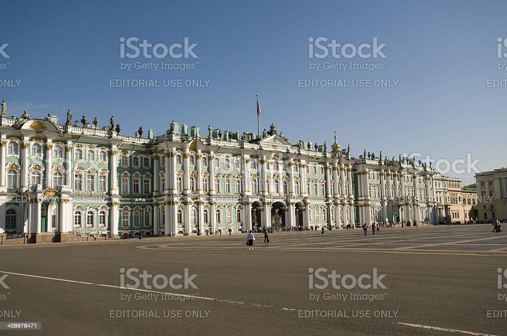 Hermitage Museum in St Petersburg stock photo