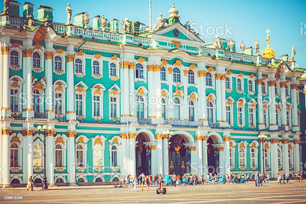 Hermitage museum in St. Petersburg stock photo