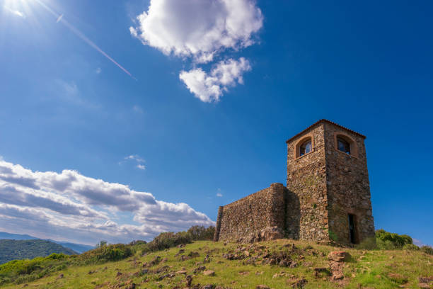 Ermita de Higuera de La Sierra 2 Different views of the hermitage of Higuera de la Sierra, the quality of the province of Huelva. In the Sierra of Santa Barbara This image was taken in may 31, of 2018 coahuila state stock pictures, royalty-free photos & images