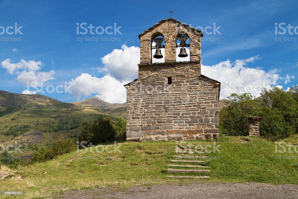Hermitage of Sant Quirc in Durro stock photo
