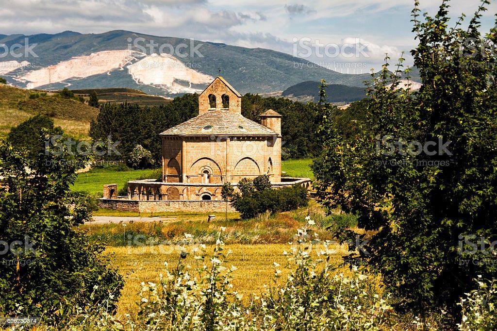 Hermitage Saint Mary of Eunate - foto de stock