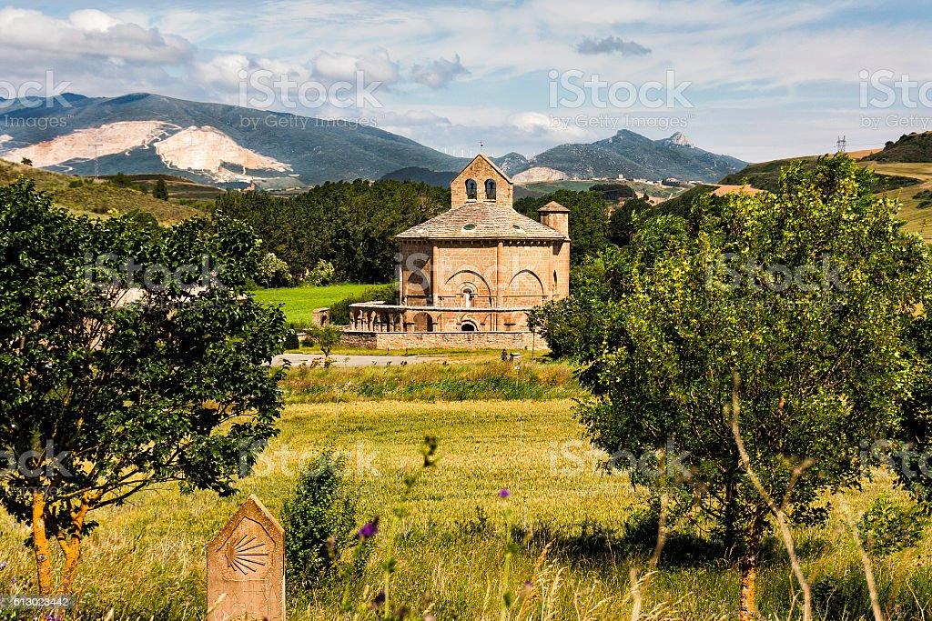 Hermitage Saint Mary of Eunate, Road to Santiago de Compostela - foto de stock