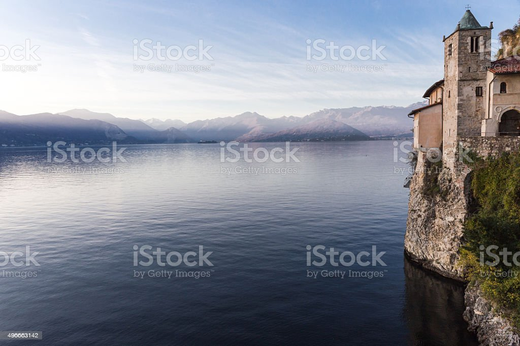 Eremo Santa Caterina del Sasso, Leggiuno - Italian Lake District stock photo