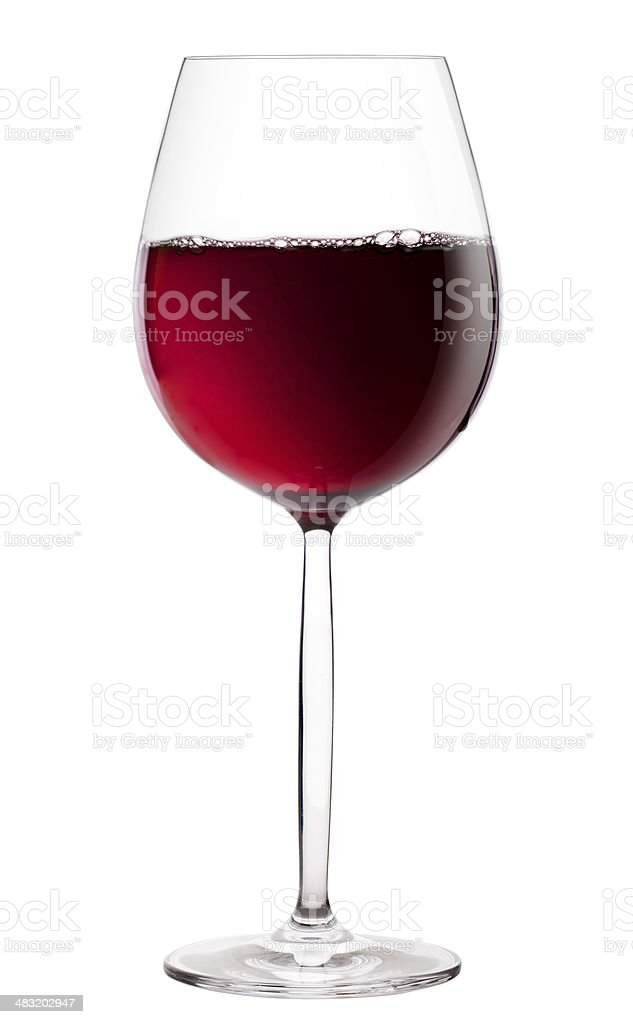 Hermitage wine glass isolated on white background stock photo