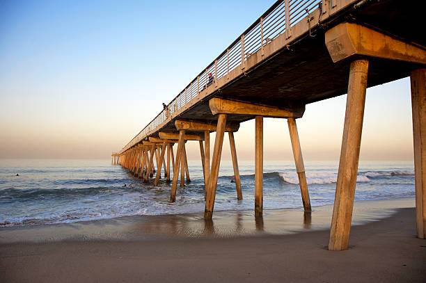 Hermosa Beach Pier in the Morning stock photo