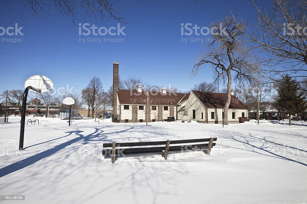 Hermosa Park Field House in Chicago royalty-free stock photo