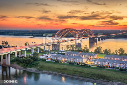 Memphis, Tennessee, USA at Hernando de Soto Bridge.