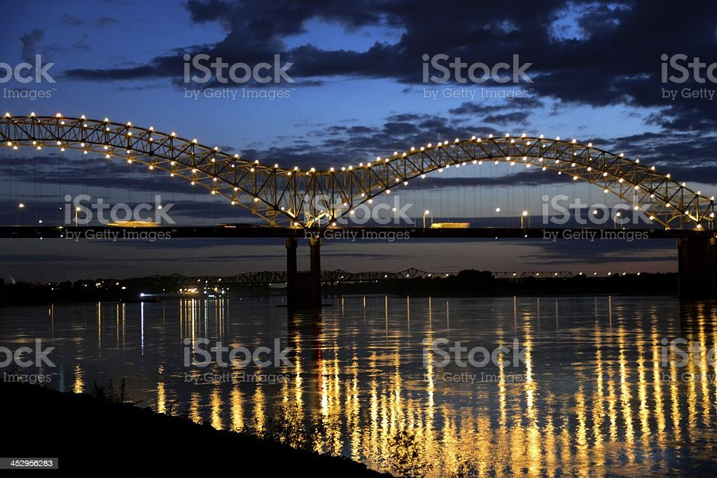 Hernando De Soto Bridge royalty-free stock photo