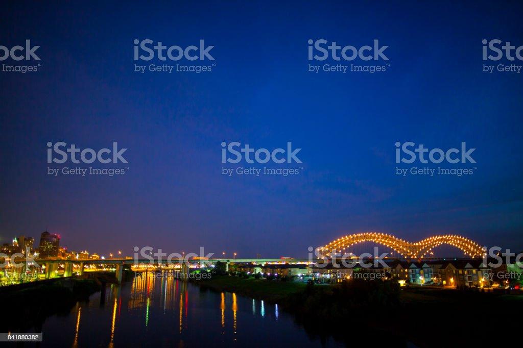 Hernando de Soto Interstate 40 Brücke in Memphis, TN – Foto