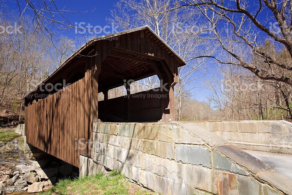 Hern's Mill Covered Bridge, Lewisburg, West Virginia stock photo