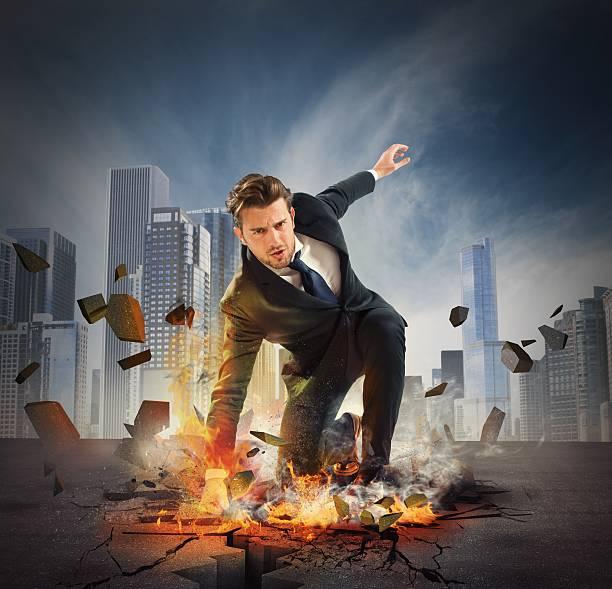 Hero determinated Geschäftsmann – Foto