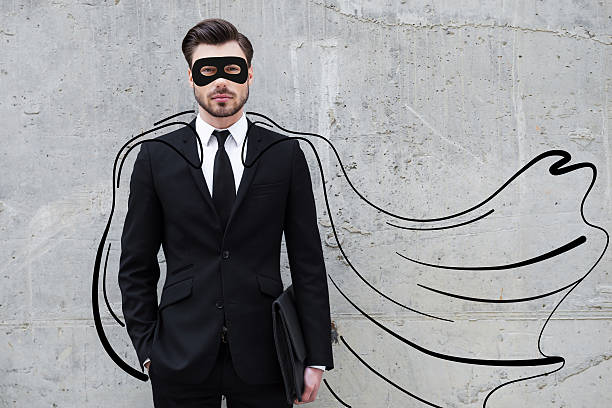 hero in his business. - mask disguise stock photos and pictures