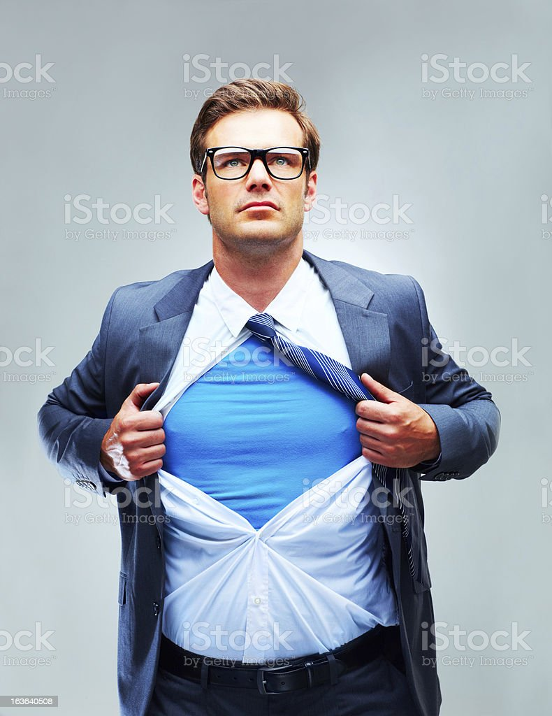 Hero of the corporation! royalty-free stock photo