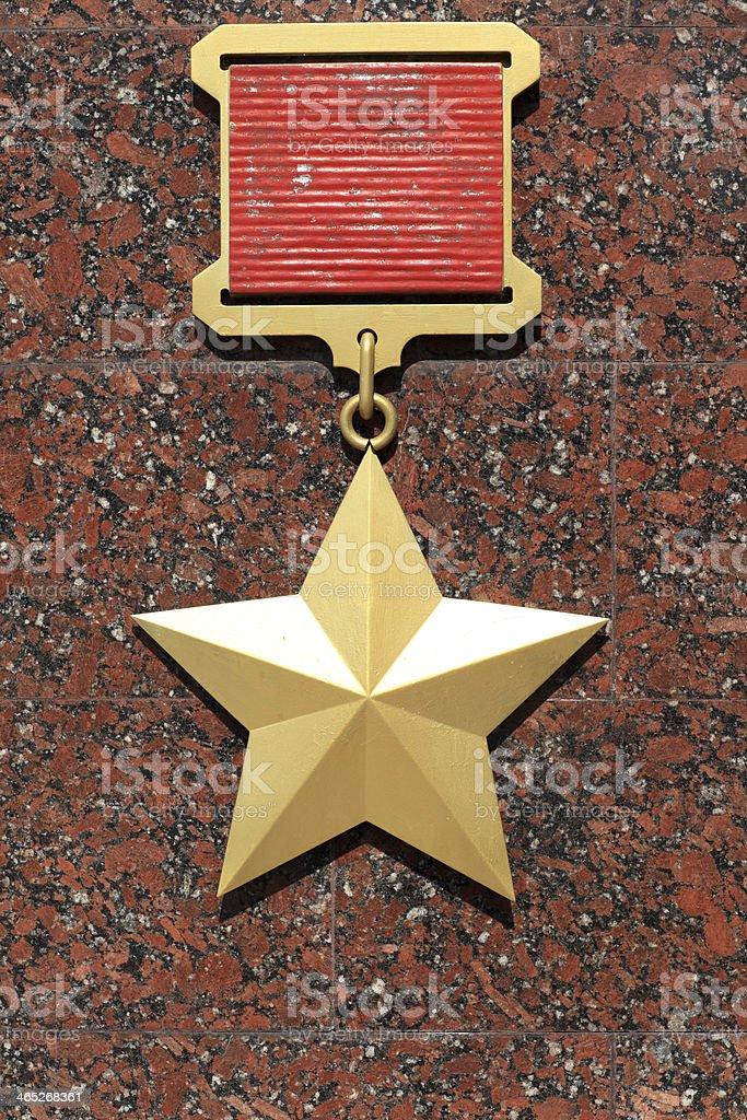 Hero of the Soviet Union stock photo