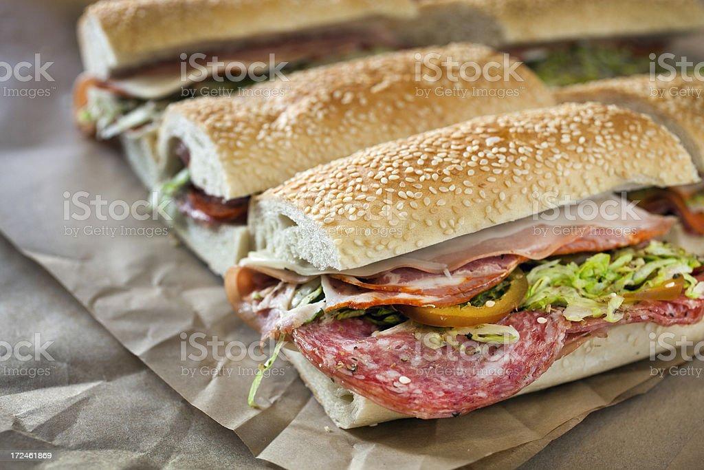 Hero sandwiches royalty-free stock photo