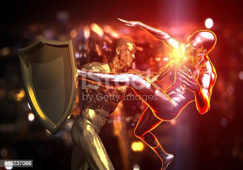 1050855372 istock photo Hero vs Antihero 645237066