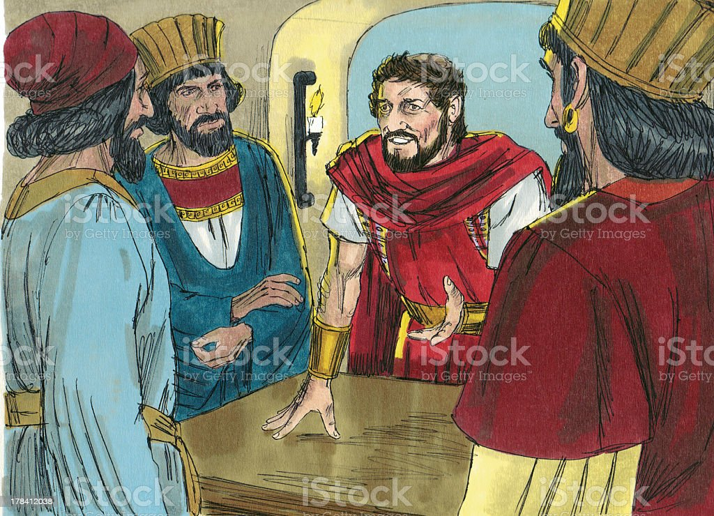 Herod and the Wise Men stock photo