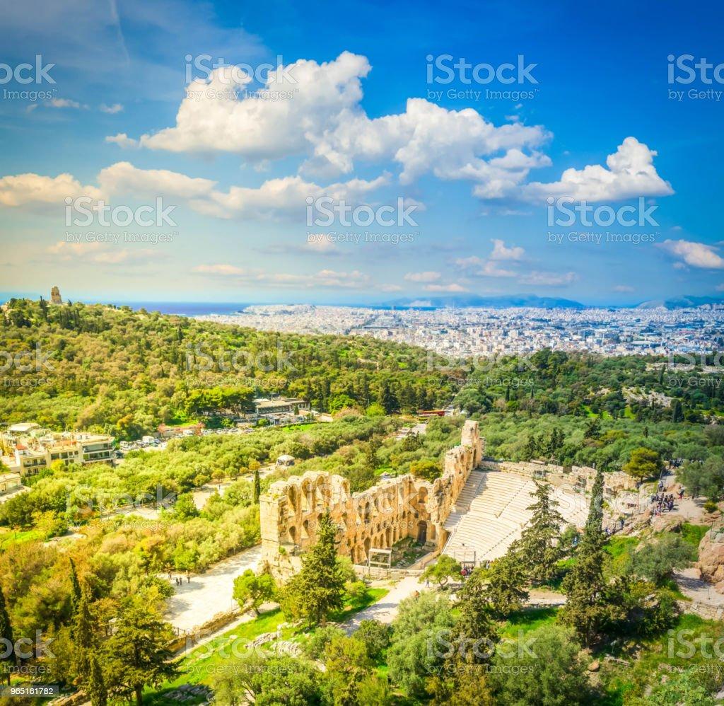 Herodes Atticus amphitheater of Acropolis, Athens royalty-free stock photo
