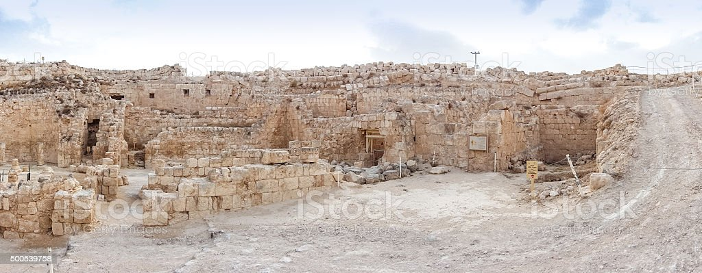 Herodium, Israel stock photo