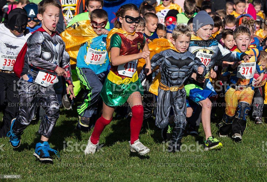 Heroes Rush In stock photo
