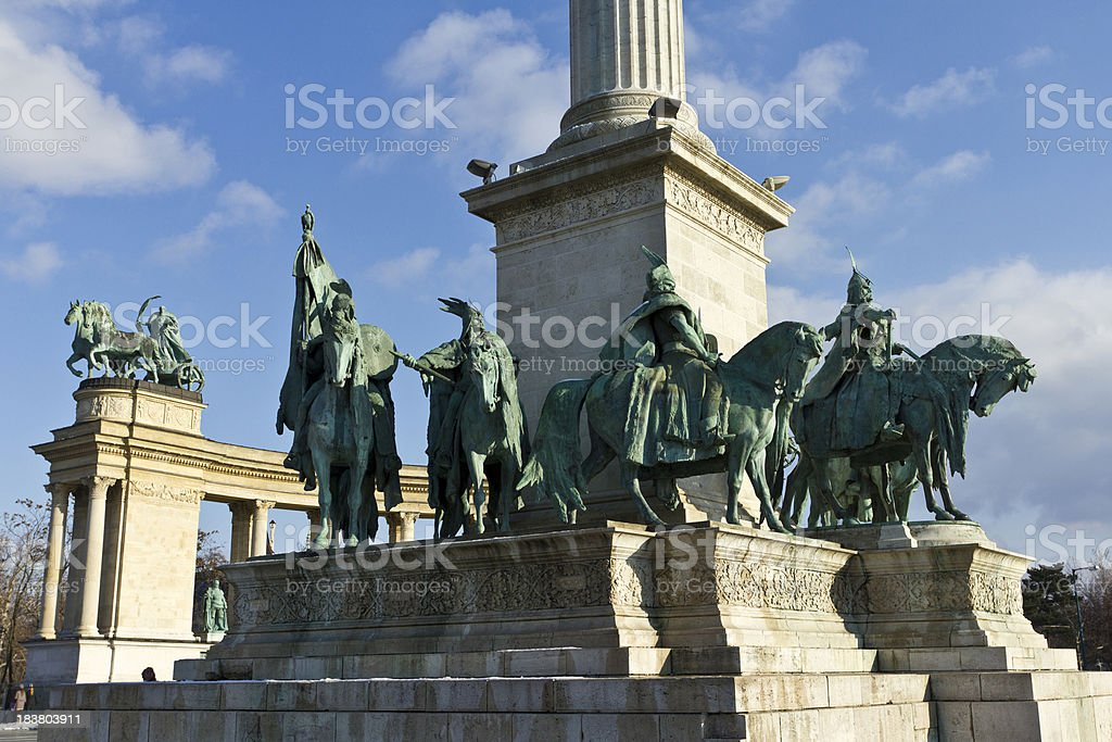Heroes Square Budapest royalty-free stock photo