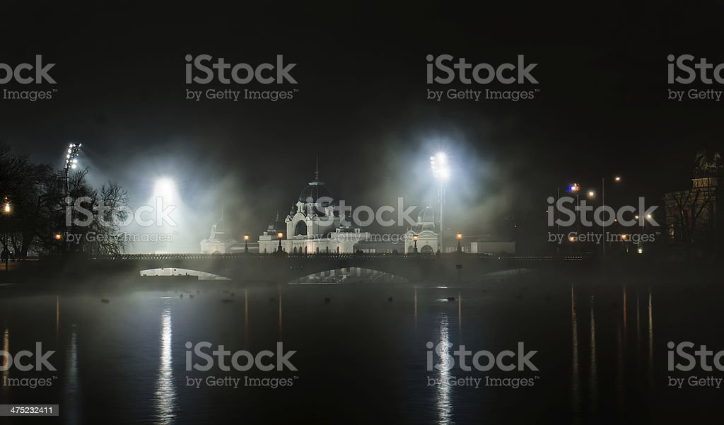 Heroes square Budapest stock photo