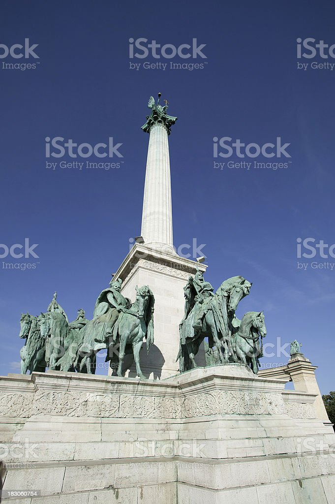 Heroes square stock photo