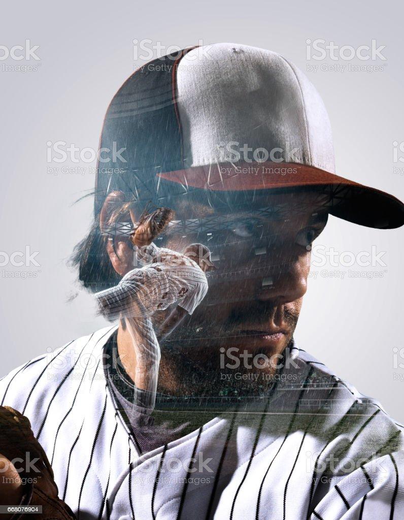 Heroic player portrait stock photo