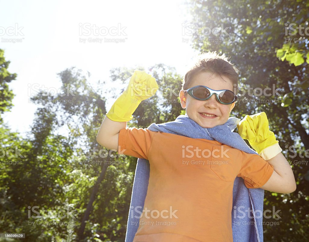 Heroics in the garden royalty-free stock photo