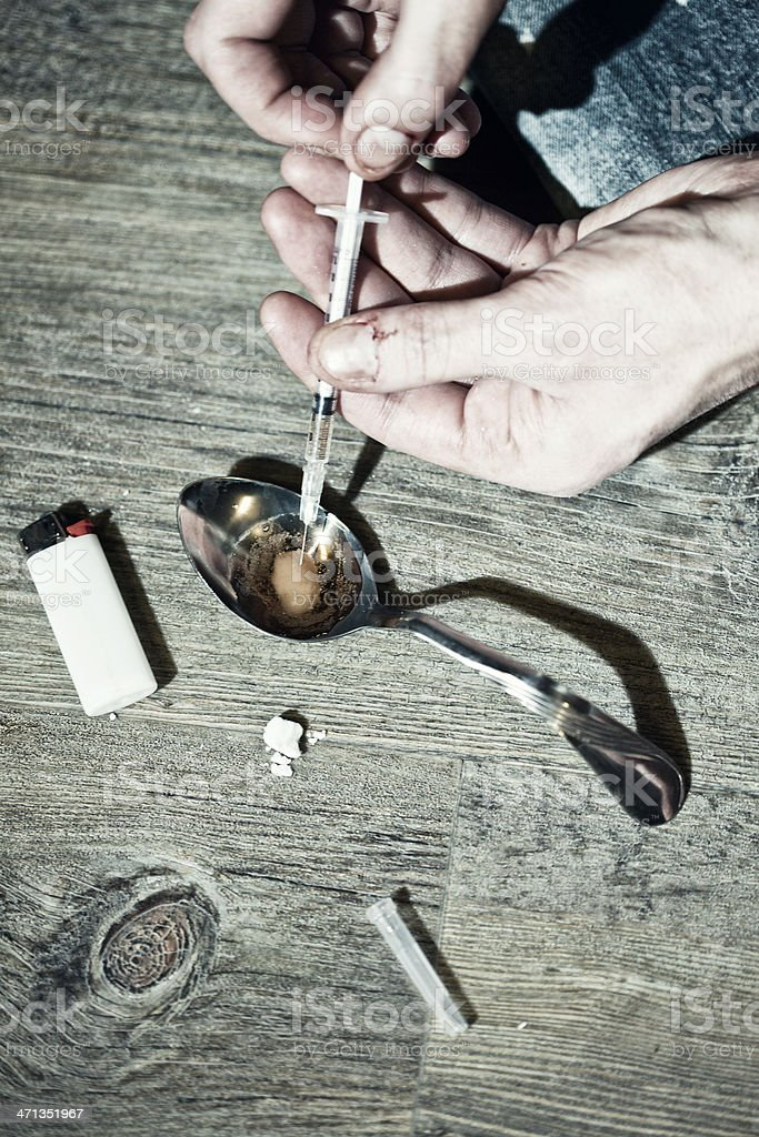 Heroin Addict stock photo