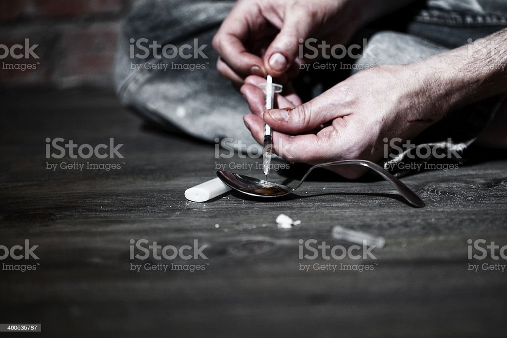Heroin stock photo