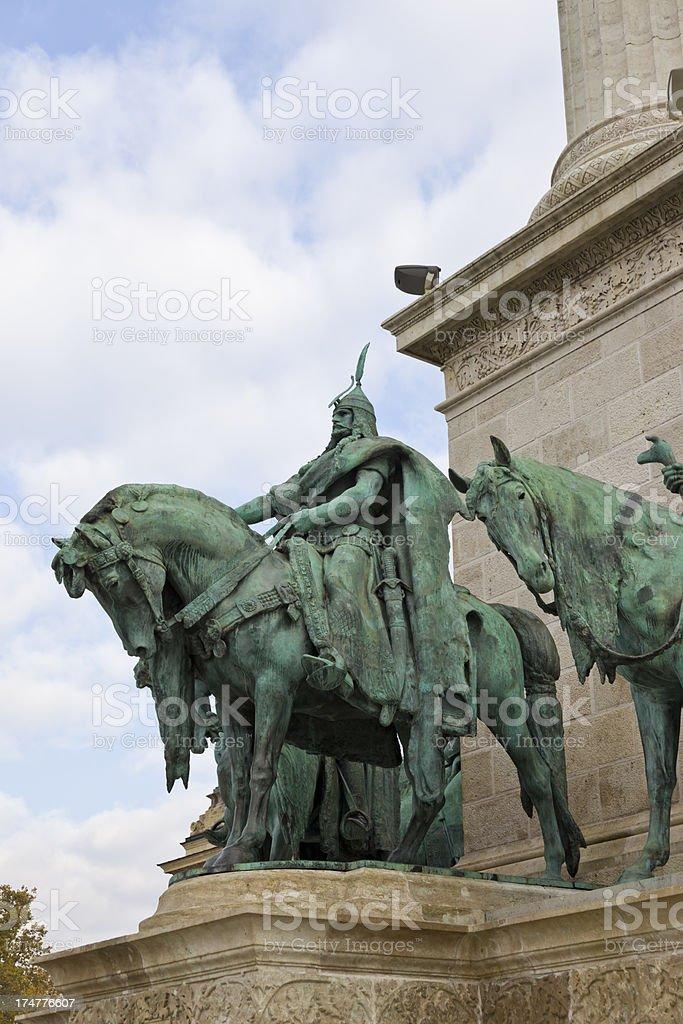 Hero's Square Budapest, Hosok tere,Hungary. royalty-free stock photo