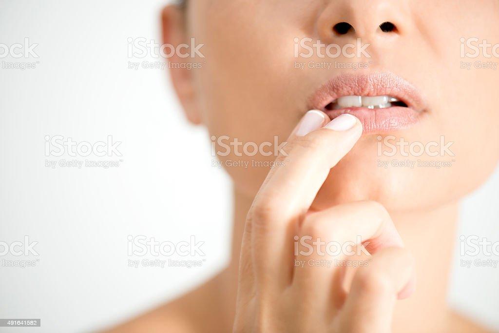 Herpes - foto stock