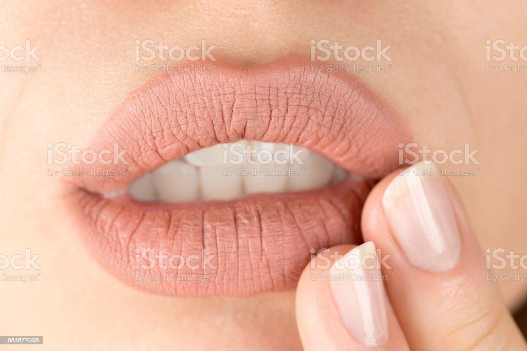 Herpes - foto de stock