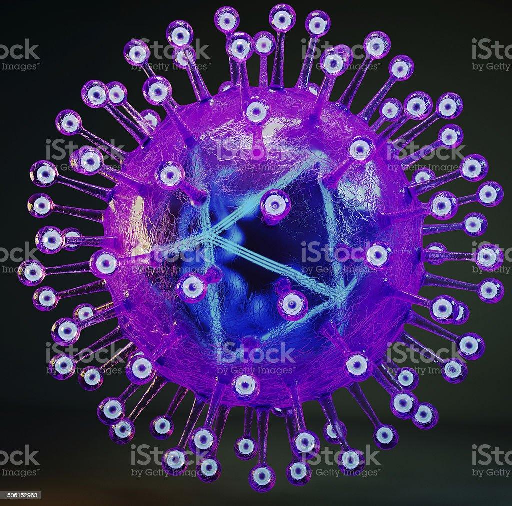 Herpes simplex virus stock photo