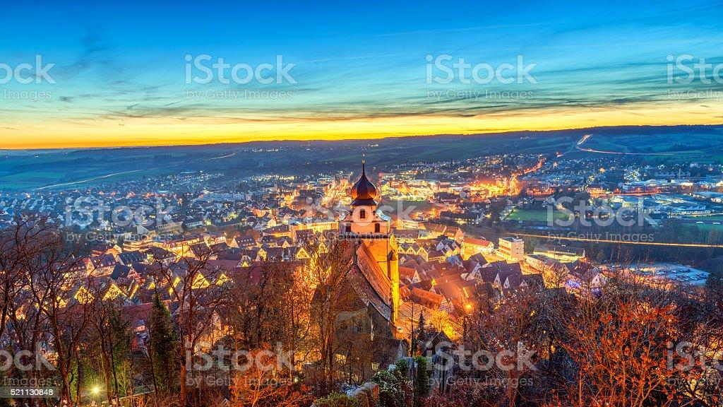 Herrenberg, Germany. Shot as High Dynamic Range. stock photo