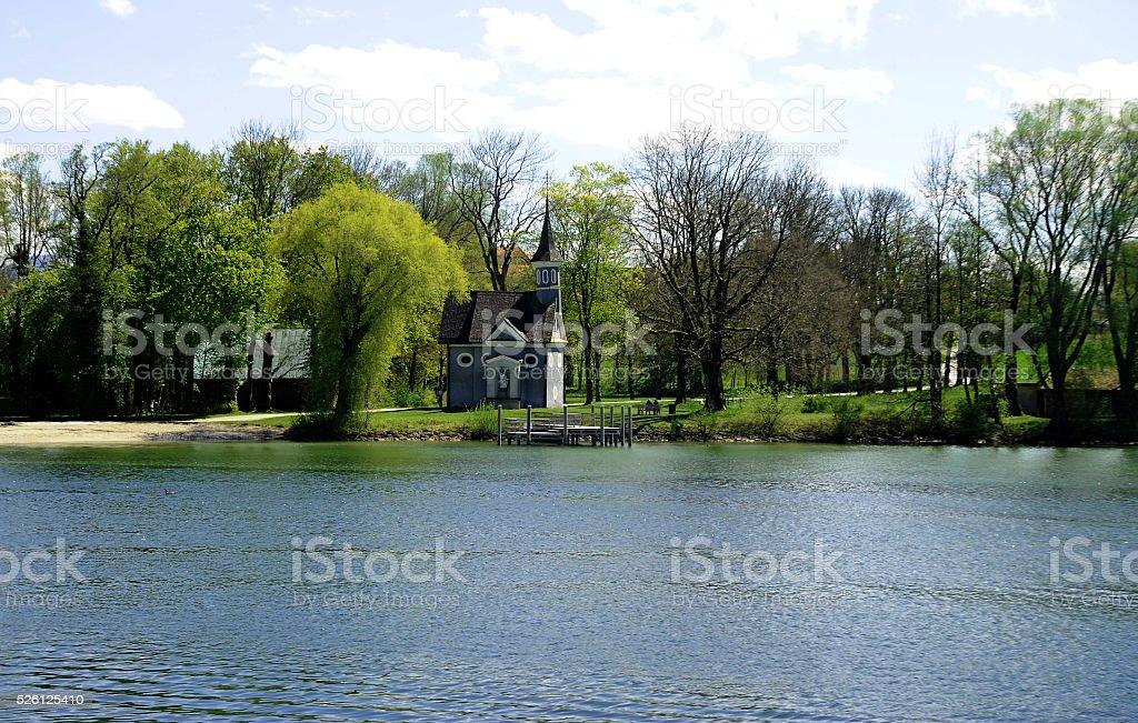 Herreninsel, Lake Chiemsee stock photo