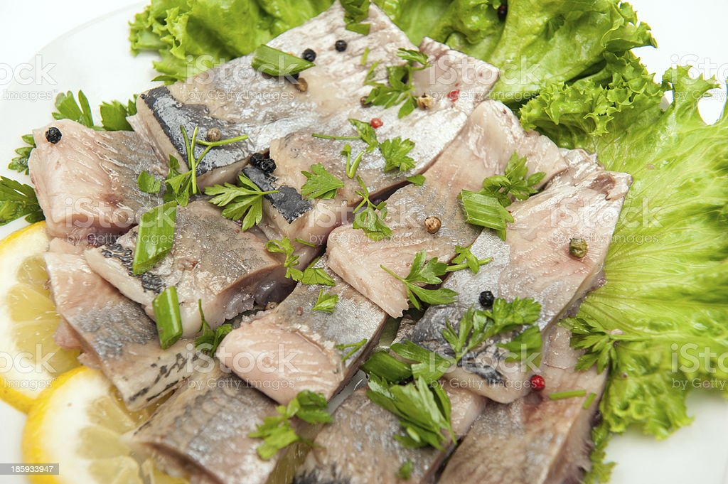herring fillets royalty-free stock photo