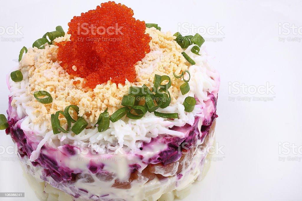 herring salad royalty-free stock photo