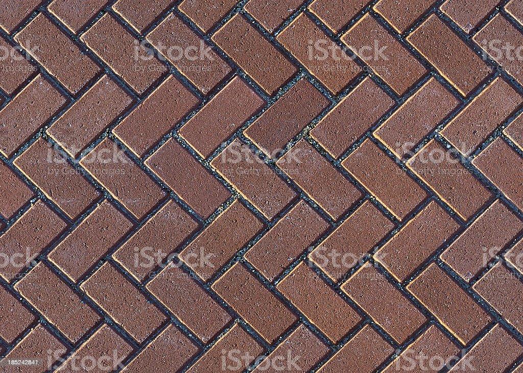 Herringbone Brick Pavers stock photo