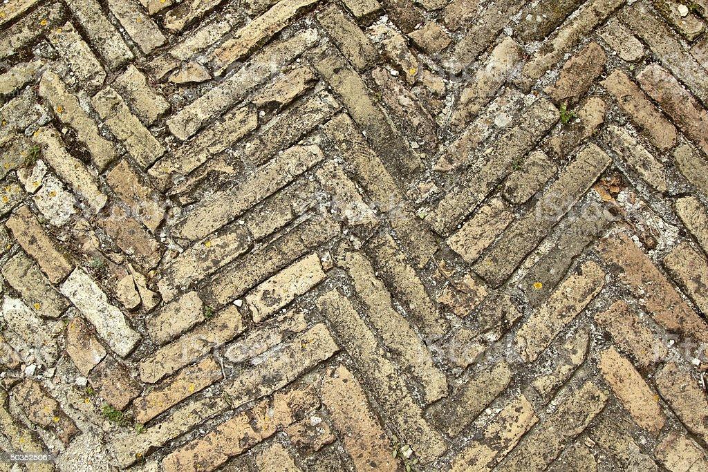 Herringbone bricks bis stock photo