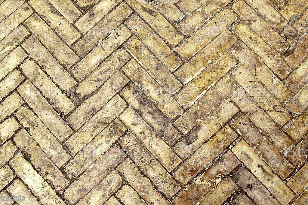 Herringbone bricks stock photo