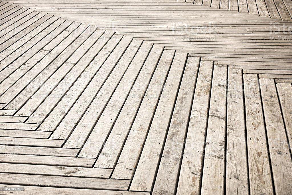 Herringbone Pattern Deck Background stock photo