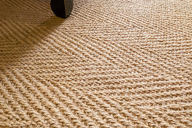 herringbone sisal carpet - sisal stock pictures, royalty-free photos & images