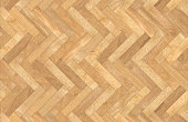 Herringbone wooden parquet - Texture and background top view