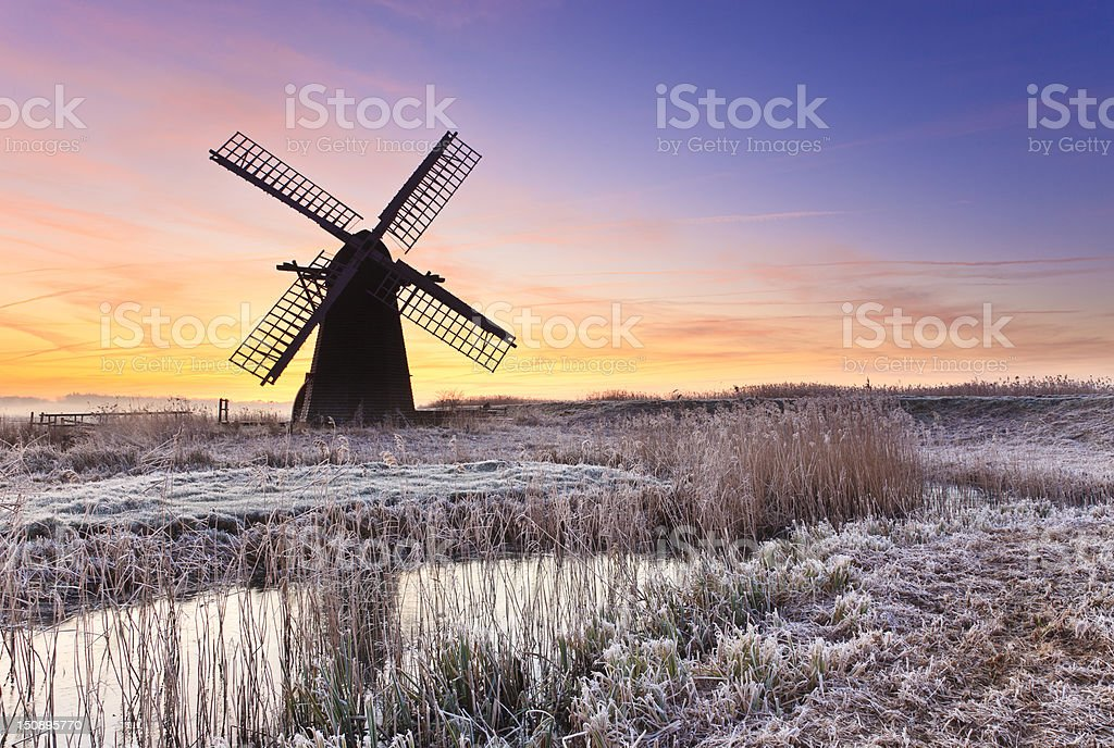 Herringfleet Sunrise stock photo