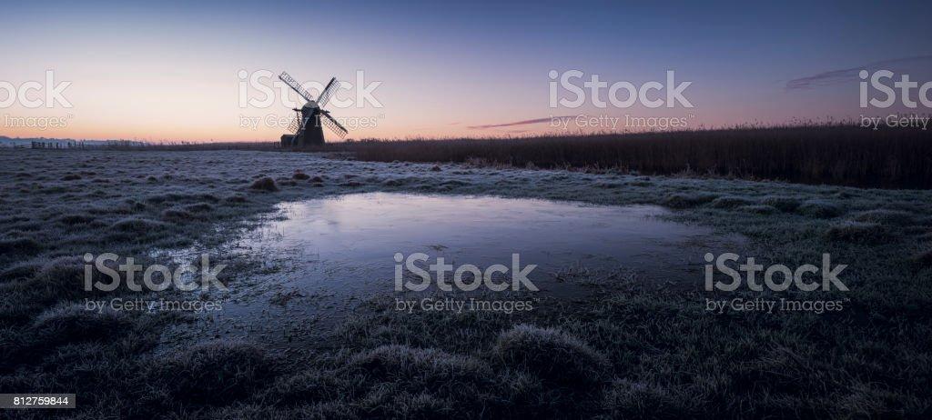 Herringfleet Windmill stock photo