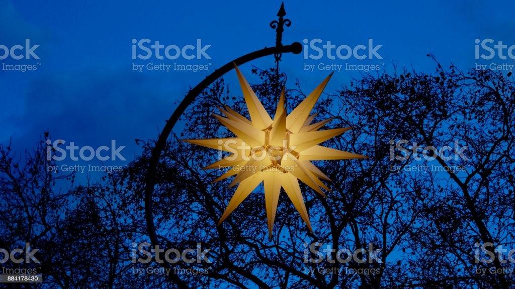 Herrnhuter Christmas Star stock photo
