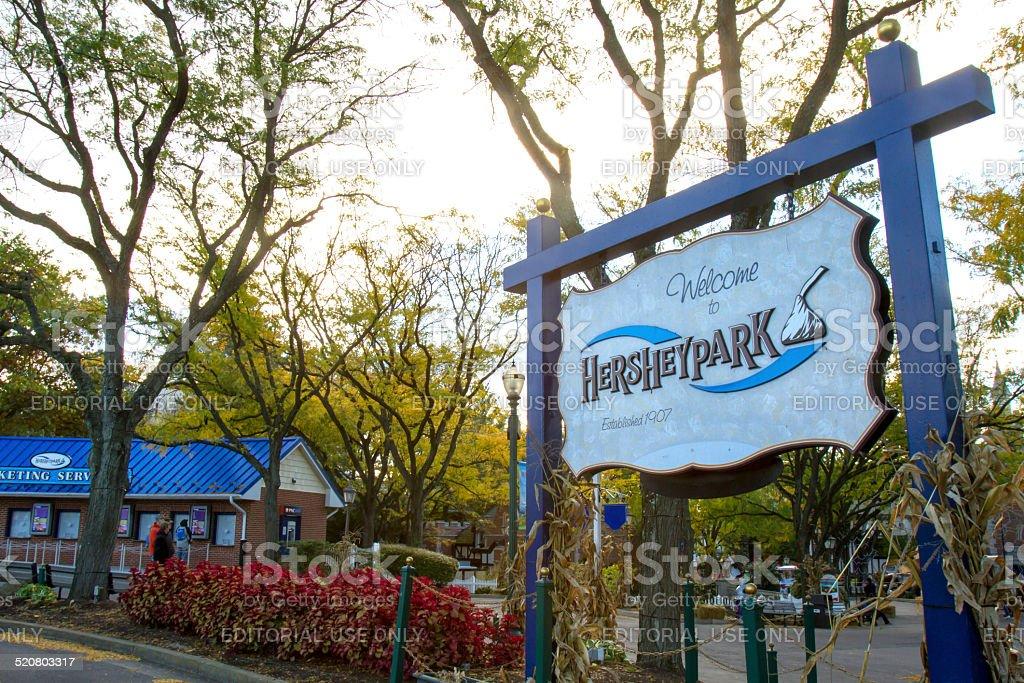 HersheyPark Entrance stock photo