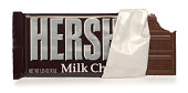 Hershey's Chocolate Bar on White